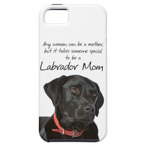 Black Lab Mom iPhone 5 Case