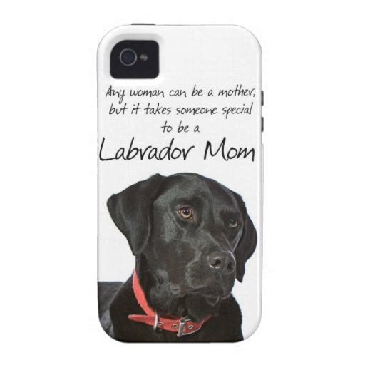 Black Lab Mom iPhone Case iPhone 4/4S Covers