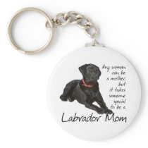 Black Lab Mom Keychain