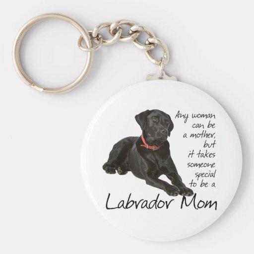 Black Lab Mom Key Chain