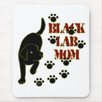 Black Lab Mom Mouse Pad
