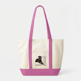 Black Lab Mom Tote Impulse Tote Bag