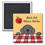 Black Lab Mom's Apple Fridge Magnet Refrigerator Magnets