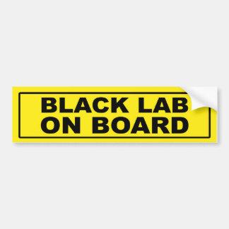 Black Lab on Board Bumper Sticker