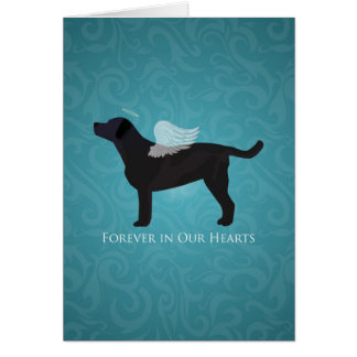 Black Lab Pet Memorial Sympathy Pet Loss Design Card