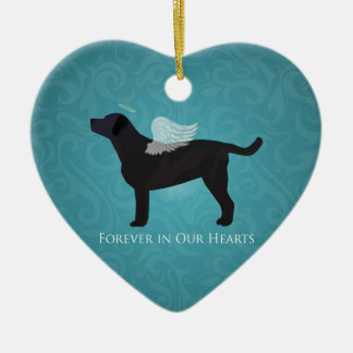 Black Lab Pet Memorial Sympathy Pet Loss Design Ceramic Ornament