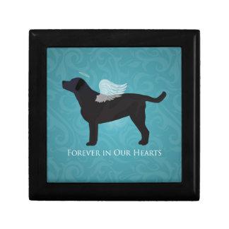 Black Lab Pet Memorial Sympathy Pet Loss Design Trinket Box
