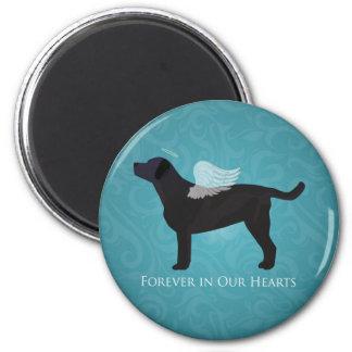 Black Lab Pet Memorial Sympathy Pet Loss Design Magnet