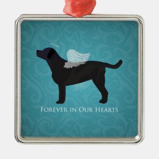 Black Lab Pet Memorial Sympathy Pet Loss Design Metal Ornament