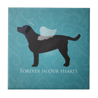 Black Lab Pet Memorial Sympathy Pet Loss Design Tile