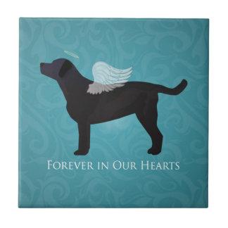 Black Lab Pet Memorial Sympathy Pet Loss Design Tile