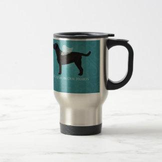 Black Lab Pet Memorial Sympathy Pet Loss Design Travel Mug