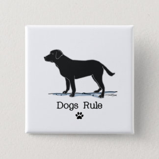 Black Lab Pinback Button