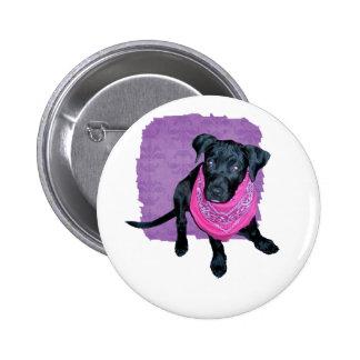 Black Lab Pink Bandana Puppy image Button