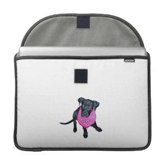 Black Lab Pink Bandana Puppy image MacBook Pro Sleeve