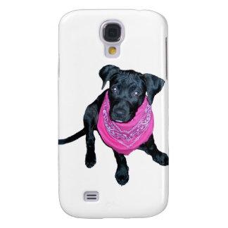 Black Lab Pink Bandana Puppy image Samsung Galaxy S4 Covers
