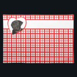 """Black Lab Placemat<br><div class=""""desc"""">This Black Labrador Retriever &quot;American MoJo&quot; product is produced by sustainably employed single moms in the USA and contributes to breaking the cycle of poverty for single moms and their children. A portion of proceeds from your purchase provide better than minimum wage salaries, a chance at a new career path,...</div>"""