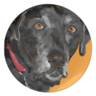 Black Lab Party Plate