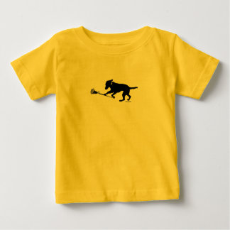 Black Lab Playing Lacrosse Baby T-Shirt