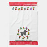 Black Lab Puppy and Red Heart Kitchen Towels