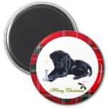 Black Lab Puppy Christmas Magnets Magnets