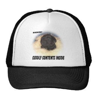 Black Lab Puppy Cuddly Contents Trucker Hat