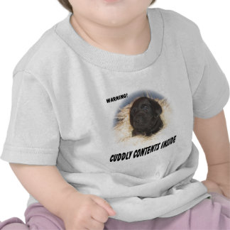 Black Lab Puppy Cuddly Contents Tee Shirts
