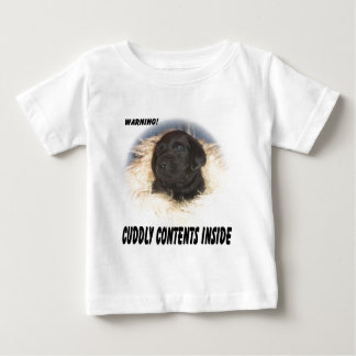 Black Lab Puppy Cuddly Contents T-shirts