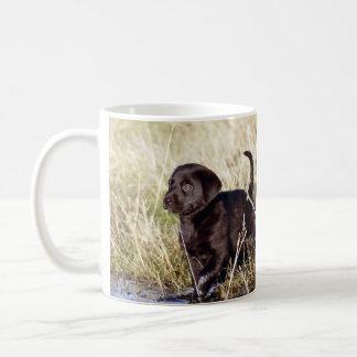 Black Lab Puppy Classic White Coffee Mug