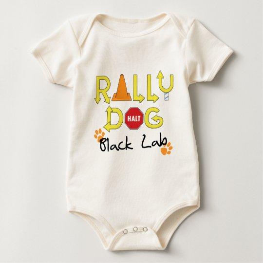 Black Lab Rally Dog Baby Bodysuit