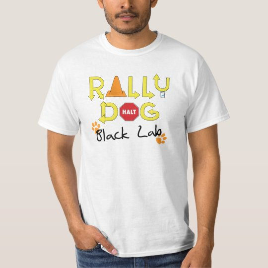 Black Lab Rally Dog T-Shirt
