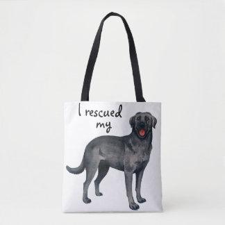 Black Lab Rescue Tote Bag