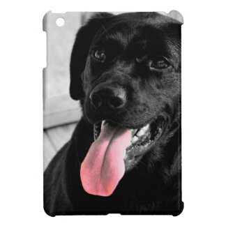 Black Lab Selective Color iPad Mini Case