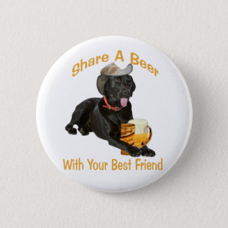 Black Lab  Shares A Beer Button