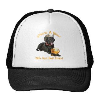 Black Lab  Shares A Beer Trucker Hat