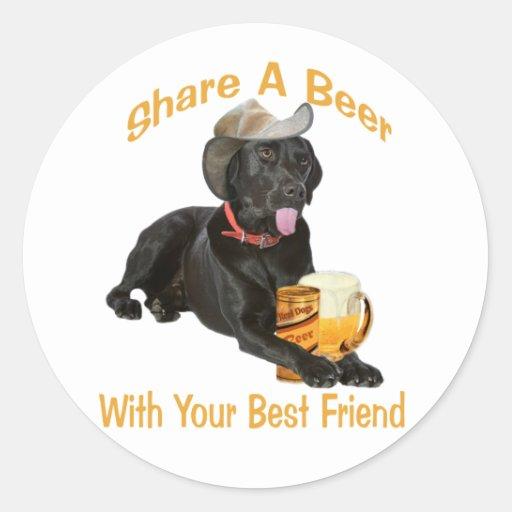 Black Lab  Shares A Beer Sticker