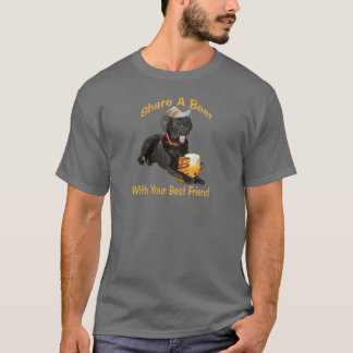 Black Lab  Shares A Beer T-Shirt