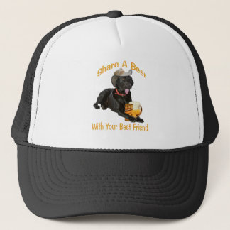 Black Lab  Shares A Beer Trucker Hat