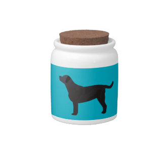 Black Lab Templates Ready to Customize Candy Dish