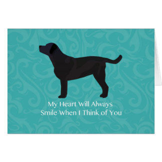Black Lab Thinking of You Design Card