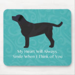 Black Lab Thinking of You Design Mouse Pad