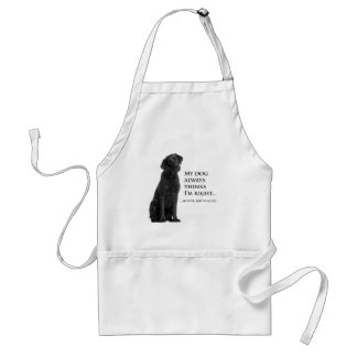 Black Lab v. Wife Apron