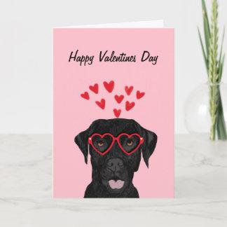 Black Lab valentines day card - labrador retriever