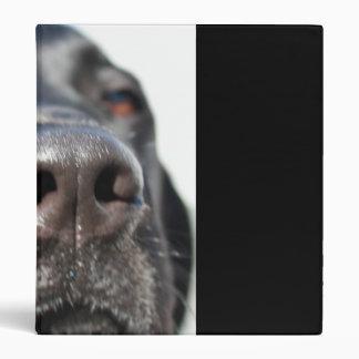 Black Lab Vinyl Binder