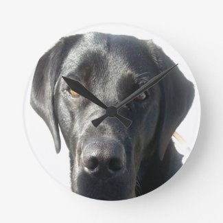 Black Lab Wall Clock