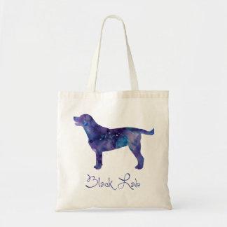 Black Lab Watercolor Tote Bag