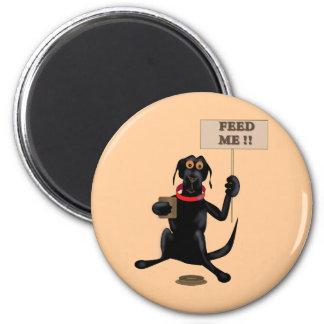 black labby 2 inch round magnet