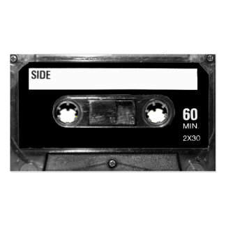 Black Label Cassette Double-Sided Standard Business Cards (Pack Of 100)