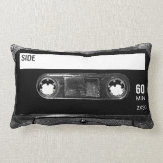 Black Label Cassette Throw Pillow