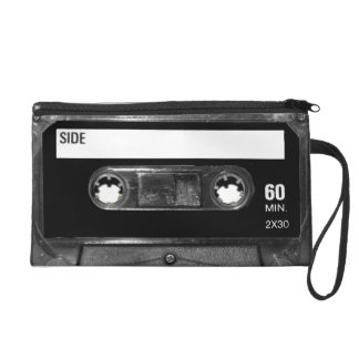 Black Label Cassette Wristlet Clutch